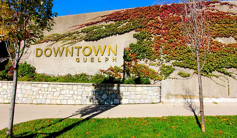 Guelph ON - Downtown Sign - Masonry Plus
