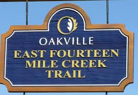 Oakville ON - Trail Sign - Masonry Plus